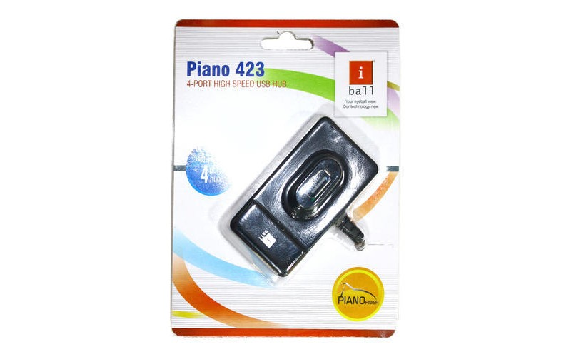 IBALL 4 PORT USB HUB 2.0 (PIANO 423)