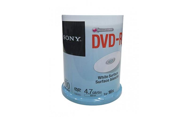 SONY DVD-R WHITE PACK OF 100