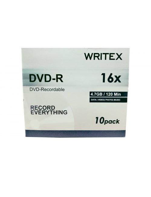 WRITEX DVD/R JC PACK OF 10