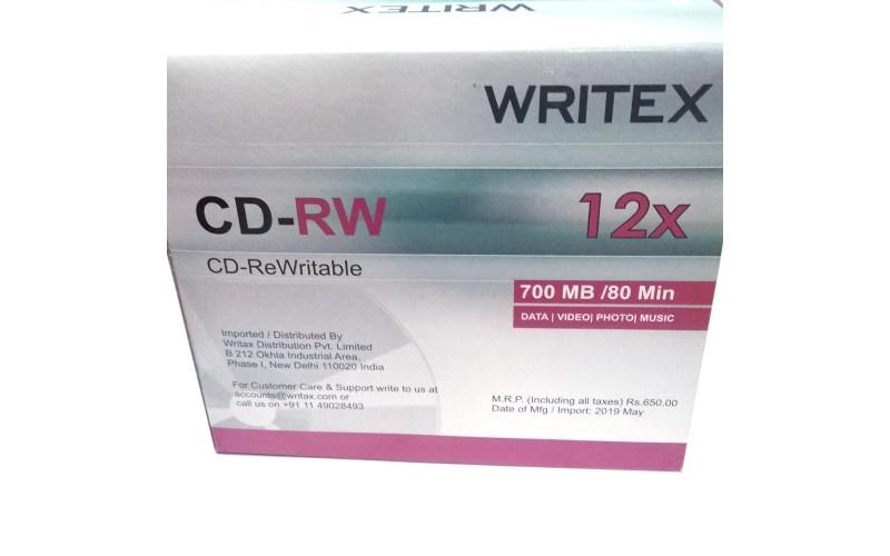 WRITEX CD/RW PACK OF 10