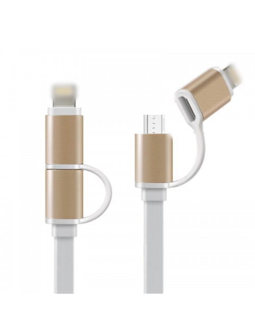 MULTYBYTE USB TO MICRO USB + IPHONE CHARGER CABLE