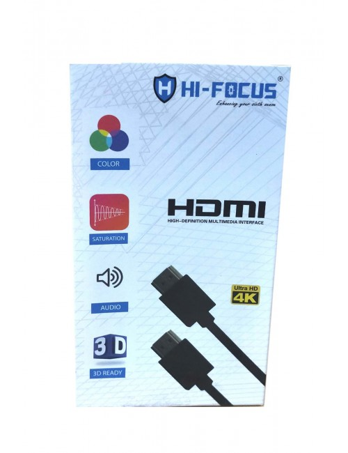 HI-FOCUS HDMI MALE TO HDMI MALE 1.5M 4K