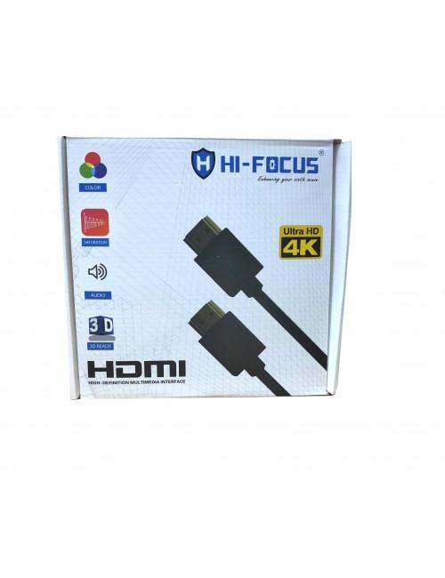 HI-FOCUS HDMI MALE TO HDMI MALE 10M 4K