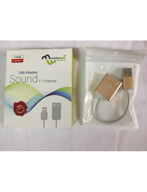 MULTYBYTE USB TO SOUND 7.1 CHANNEL (MMPL-UP03)