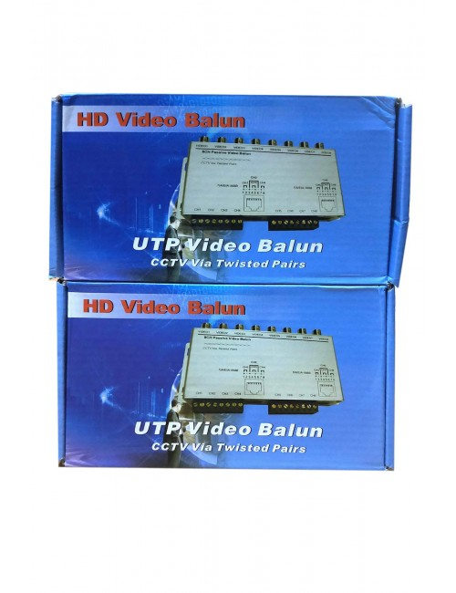 UTP VIDEO BALUN 8 PORT (PAIR) 300M