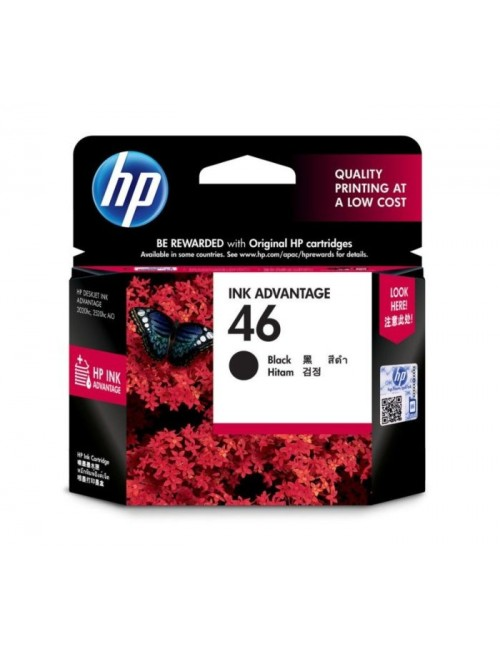 HP INK CARTRIDGE 46 BLACK (ORIGINAL)