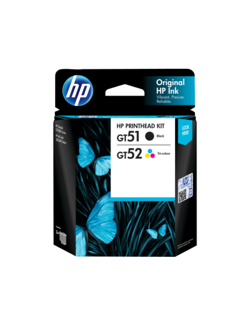 HP INK PRINTHEAD COMBO GT51 & 52 BLACK & COLOR 2-PACK (ORIGINAL)