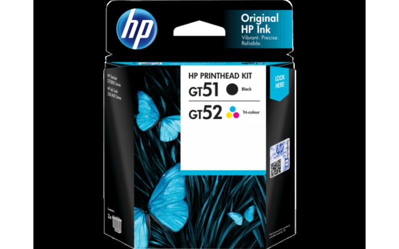HP INK PRINTHEAD COMBO GT51 & 52 BLACK & COLOR 2-PACK (ORIGINAL)