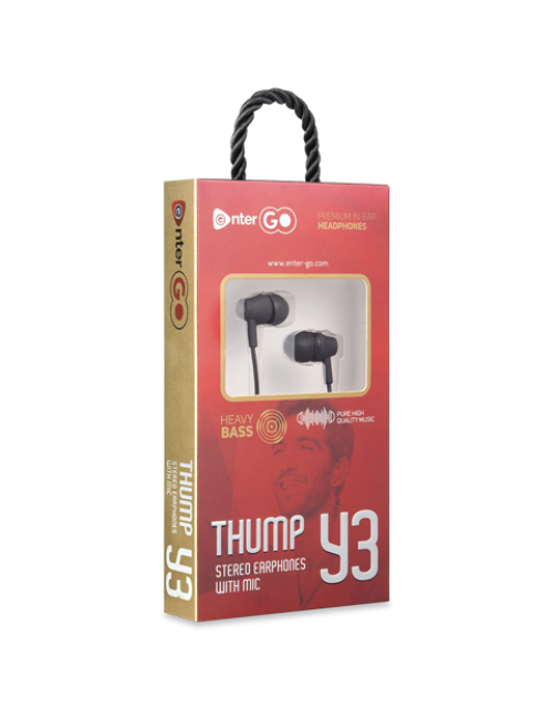 ENTER WIRED EARPHONE THUMP Y3