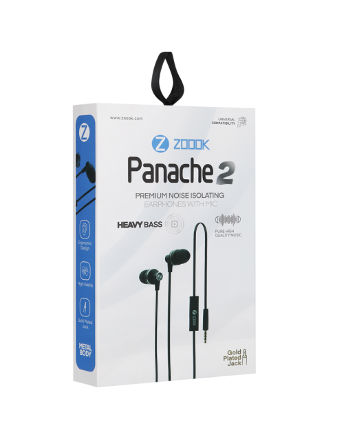 ZOOOK WIRED EARPHONE PANACHE 2