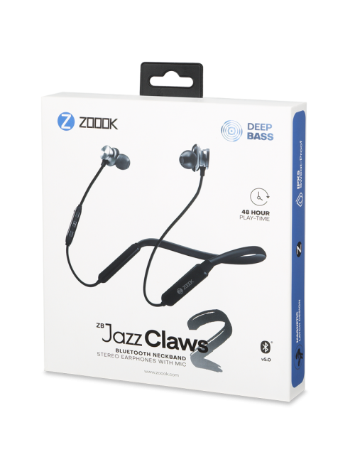ZOOOK BLUETOOTH EARPHONE NECKBAND WITH MIC (ZBJAZZCLAWS2)