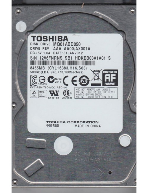TOSHIBA INTERNAL HARD DISK 500GB LAPTOP