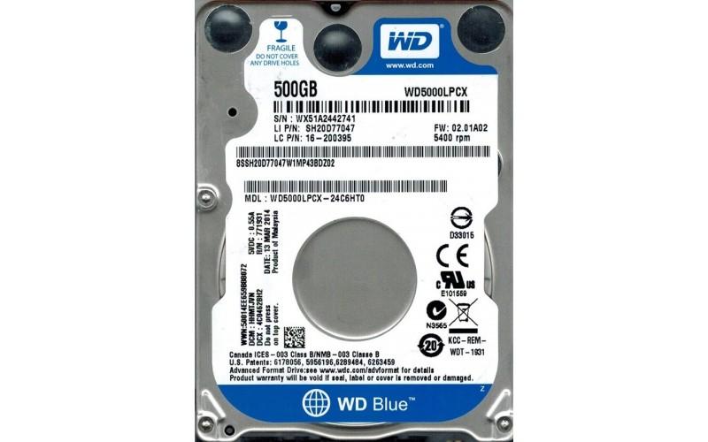 WD INTERNAL HARD DISK 500GB (BLUE) LAPTOP