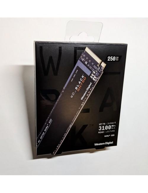 WD SSD BLACK 250GB NVME WITH HEATSINK (SN750)