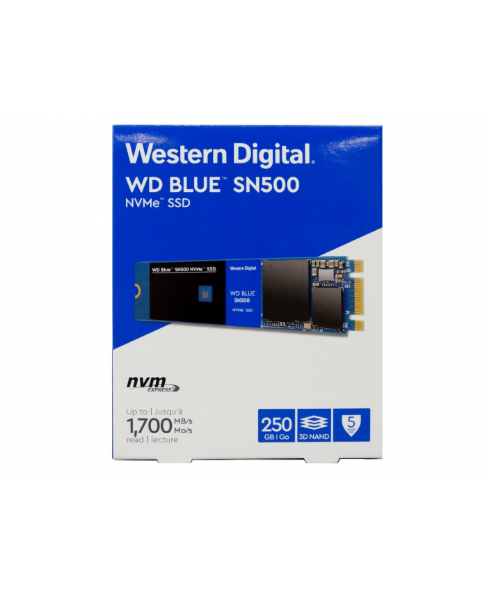 WD SSD BLUE 250GB NVME (SN500)