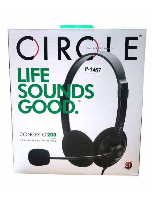 CIRCLE WIRED HEADPHONE CONCERTO200 (DUAL PIN)
