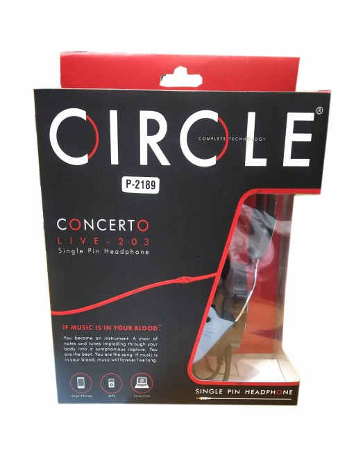 CIRCLE WIRED HEADPHONE CONCERTO LIVE203 (SINGLE PIN)