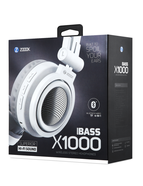 ZOOOK BLUETOOTH HEADPHONE BASS X1000
