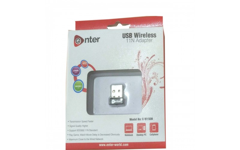 ENTER WIFI ADAPTER USB 150 MBPS