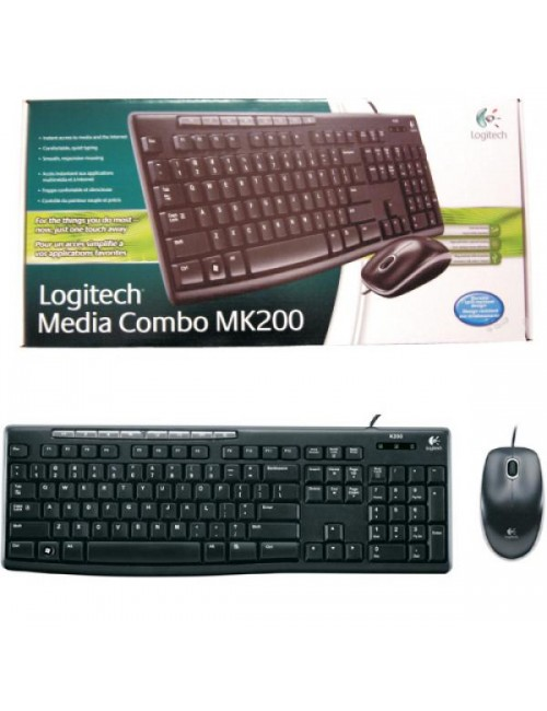 LOGITECH WIRED COMBO MK200 MULTIMEDIA