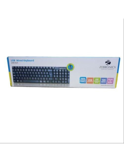 ZEBRONICS KEYBOARD USB ZEB-K25