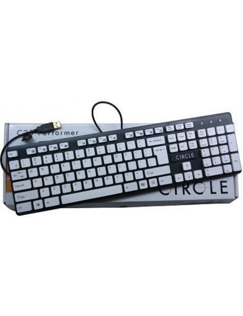 CIRCLE KEYBOARD USB C23 WHITE