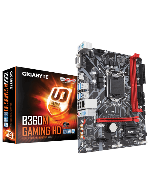 GIGABYTE MOTHERBOARD 360 (B360M GAMING HD)