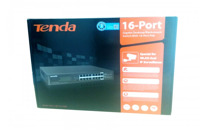 TENDA 16 PORT GIGA POE 1116P (16 GIGA)