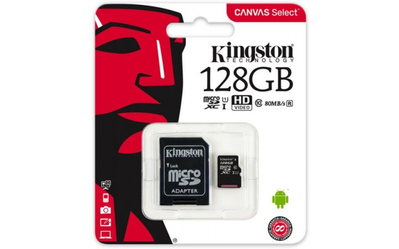 KINGSTON MICRO SD CARD 128 GB CL10