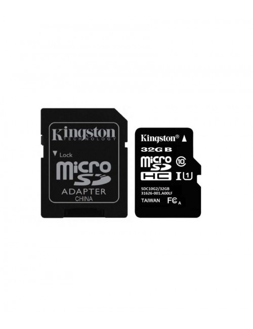 KINGSTON MICRO SD 32 GB MEMORY CARD CL 10