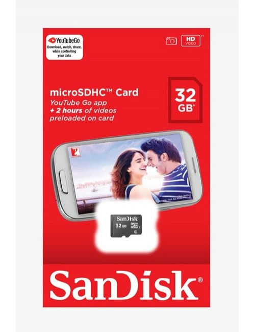SANDISK MICRO SD 32 GB MEMORY CARD CLASS 4