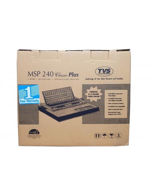 TVS DOT MATRIX PRINTER MSP240 CLASSIC PLUS