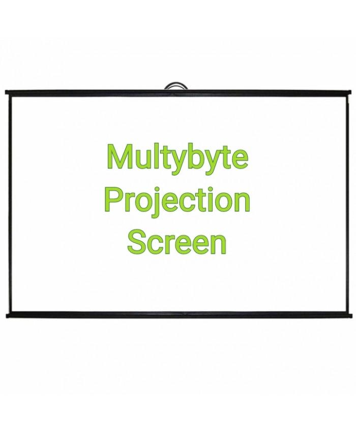 """MULTYBYTE MAP TYPE PROJECTOR SCREEN 5 X 7 100"""""""