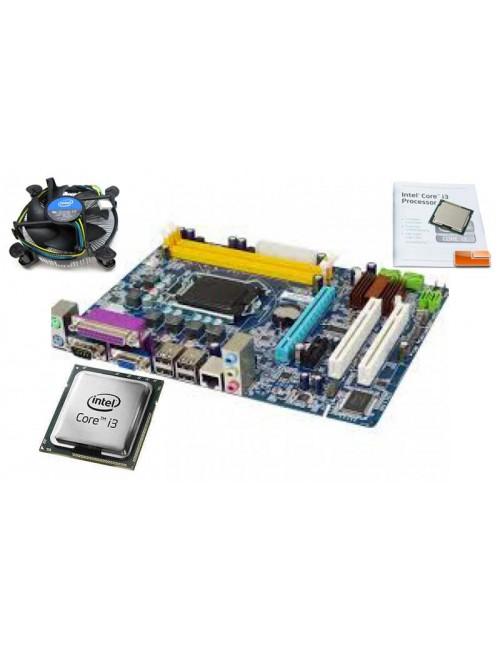INTEL CORE i3 (1st Gen) CPU WITH FAN + PRAXIS H55, COMBO, 2 YRS WARRANTY