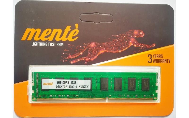 MENTE RAM 2 GB DDR3 DESKTOP 1333 MHZ