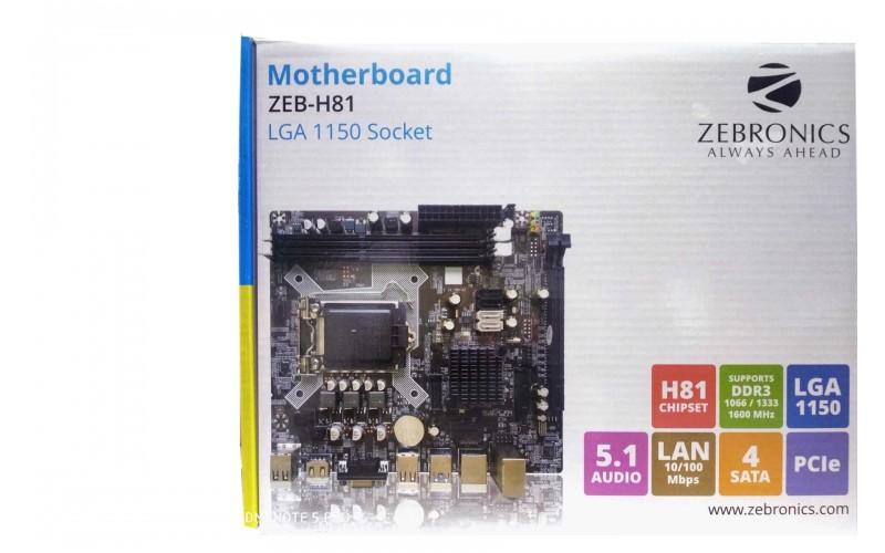 ZEBRONICS MOTHERBOARD 81 (ZEB-H81)