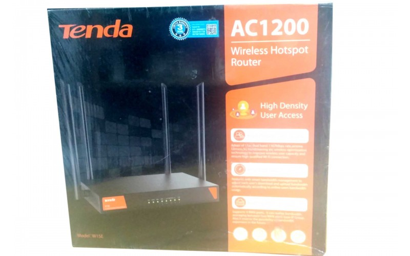 TENDA AC 1200 WIRELESS HOTSPOT ROUTER W15E