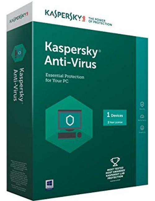 KASPERSKY ANTIVIRUS 1 USER / 1 YEAR