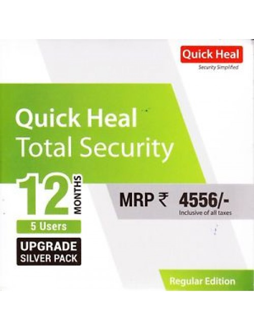 QUICK HEAL TOTAL SECURITY RENEWAL TR5UP (5 USER 1 YEAR)