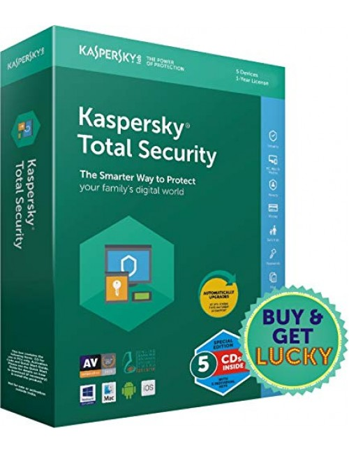 KASPERSKY TOTAL SECURITY 5 USER 1 YEAR