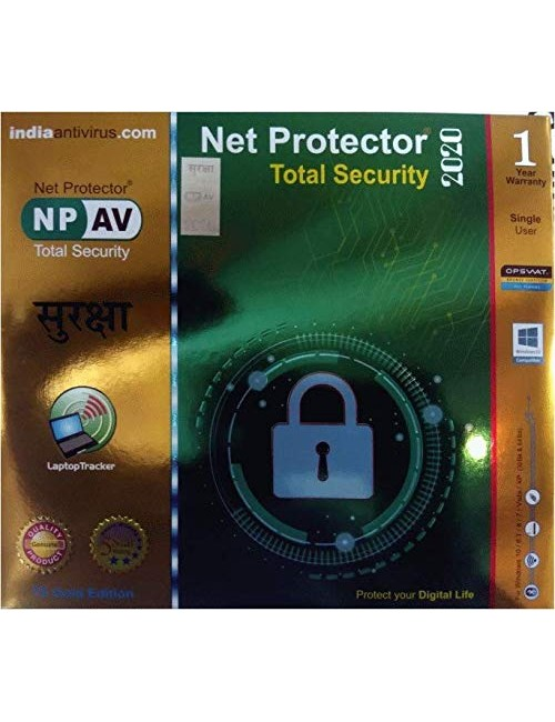 NET PROTECTOR TOTAL SECURITY (GOLD) 1 USER 1 YEAR (SOFT KEY)