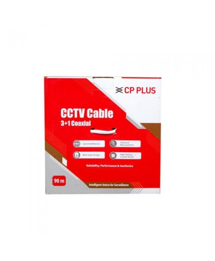 CCTV CABLE 3+1 CP PLUS (90 METRE)