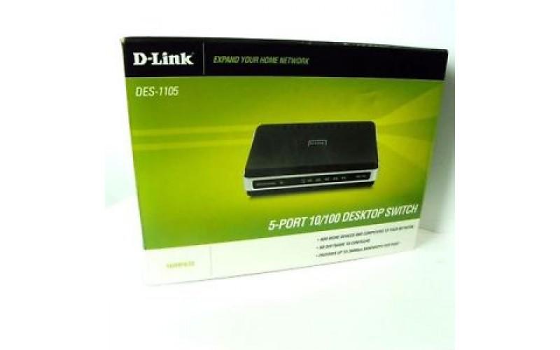 D LINK 5 PORT SWITCH DES-1105 (IMPORT)