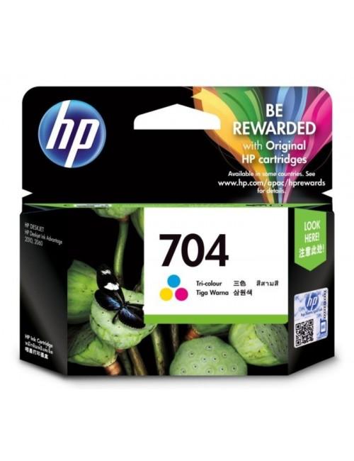 HP INK CARTRIDGE 704 TRI-COLOR (ORIGINAL)