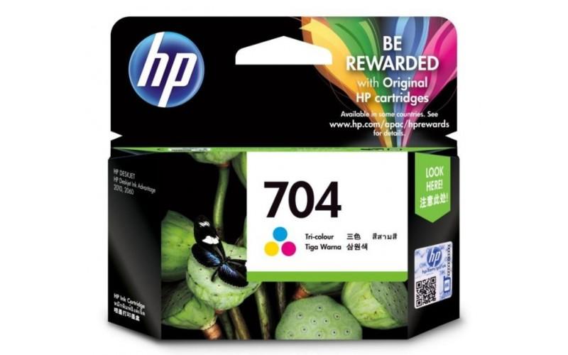 HP INK ADVANTAGE CARTRIDGE 704 TRI-COLOR (ORIGINAL)