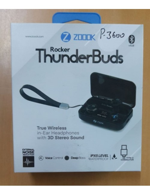 ZOOOK ROCKER  THUNDER BUDS BLUETOON IN EAR EARPHONE