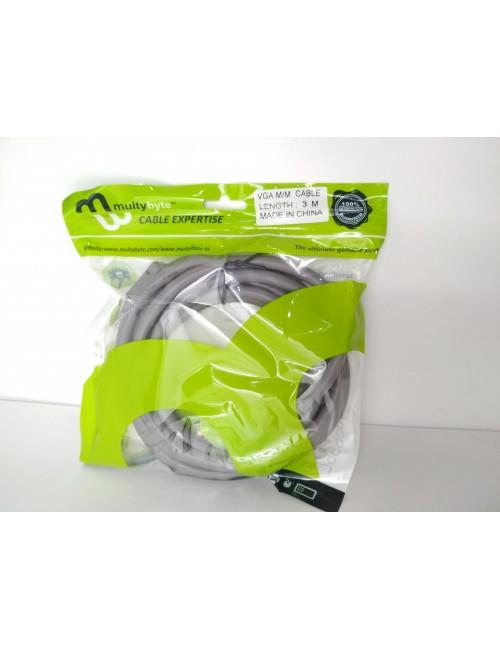 MULTYBYTE VGA / RGB CABLE 3+6 3M