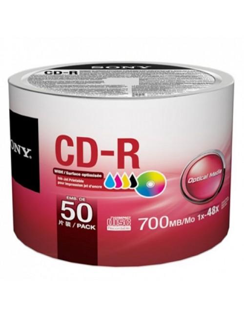 SONY CD/R WHITE PACK OF 50