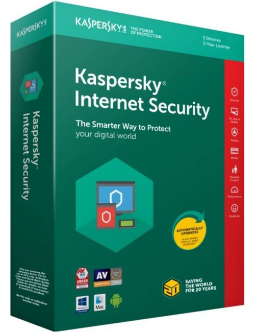 KASPERSKY INTERNET SECURITY 3 USER / 1YEAR