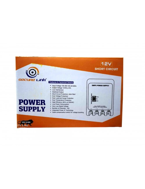 SECURELINK POWER SUPPLY 4CH STEEL